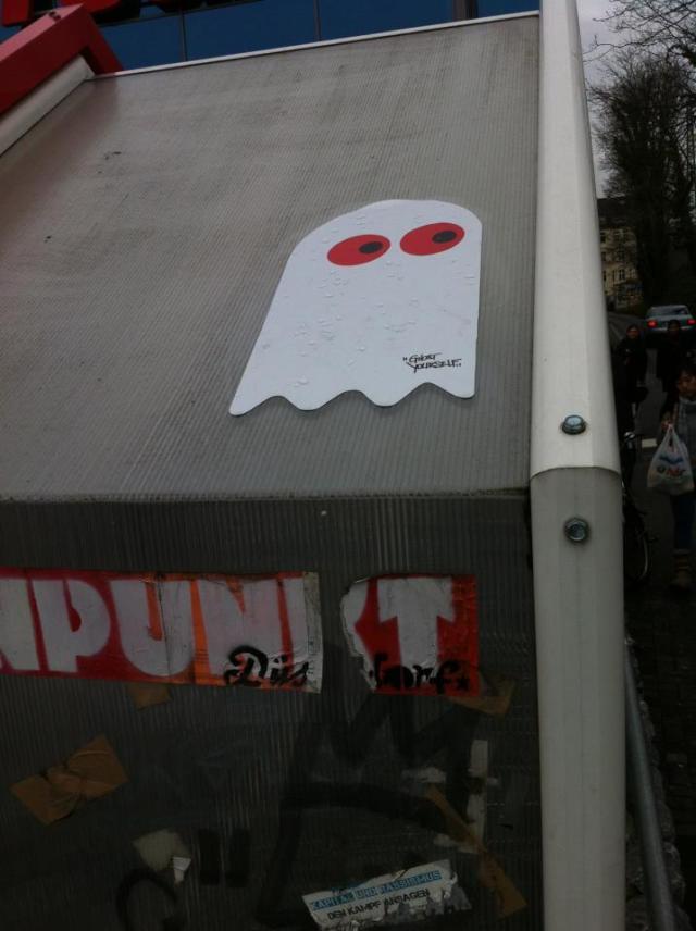 Pacman StreetArt Düsseldorf
