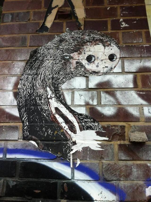 "StreetArt Hamburg, ""Sock Monkey"" by SAM CREW, Foto: Sebastian Hartmann"