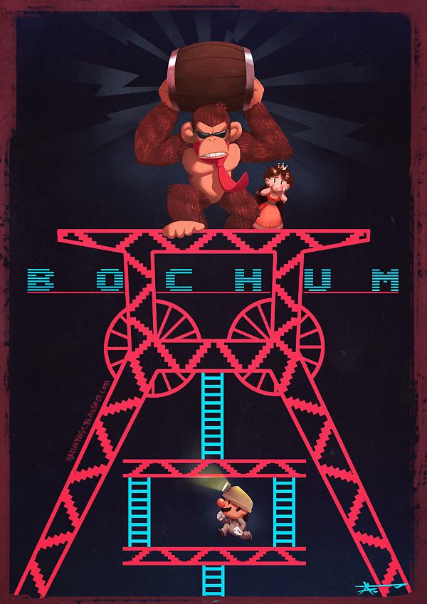 Förderturm_Bochum_Plakat_Poster_DonkeyKong